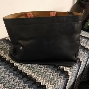 Black leather Bally Tote